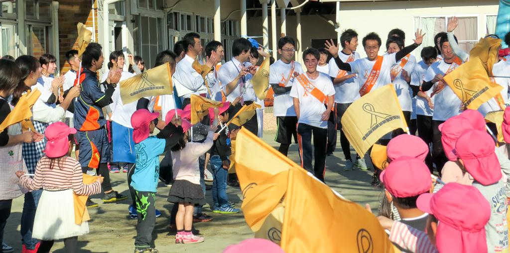 〈茨城県〉子どもを守ろう!オレンジリボンたすきリレー