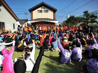 【写真】2016年  鳥取西部地区  オレンジリボン たすきリレー