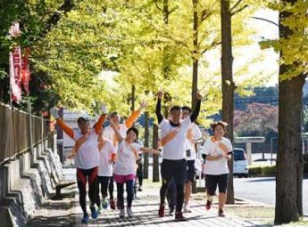 〈茨城県〉 2017年 子どもを守ろう! オレンジリボンたすきリレー