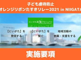 新潟県11月3日開催決定!ランナー募集中!